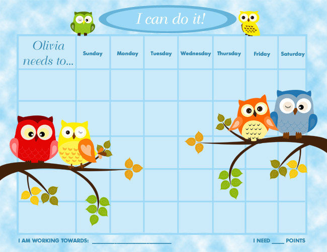 Printable Reward Charts For Kids 4 002