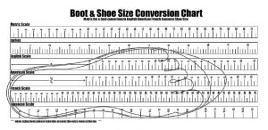Printable shoe size chart international