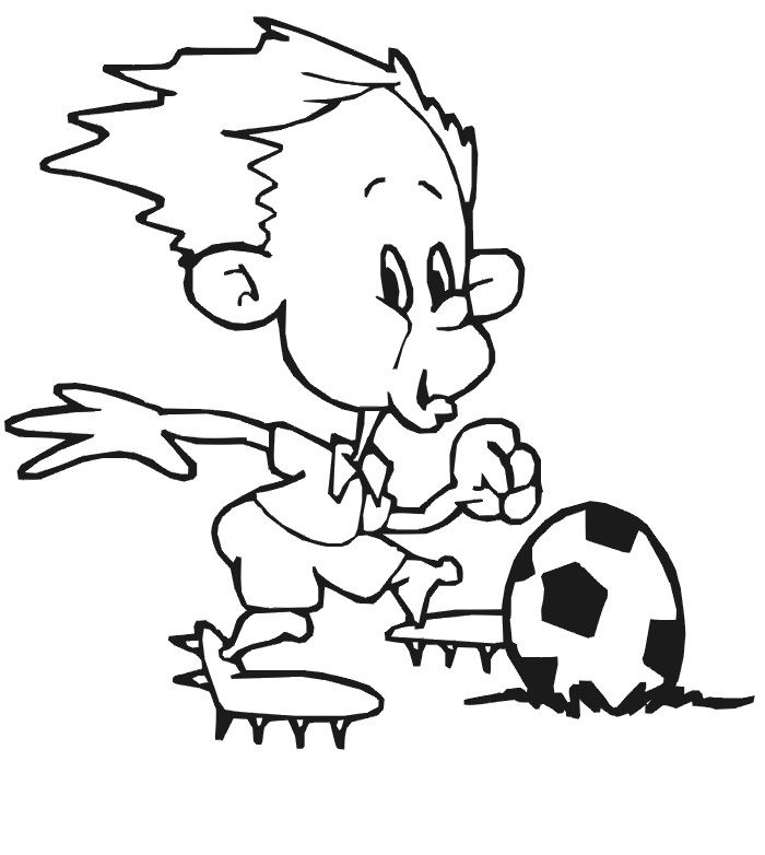 Printable Soccer Coloring Pages 001