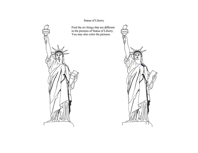 Printable Statue Of Liberty Coloring Pages For Kids 001