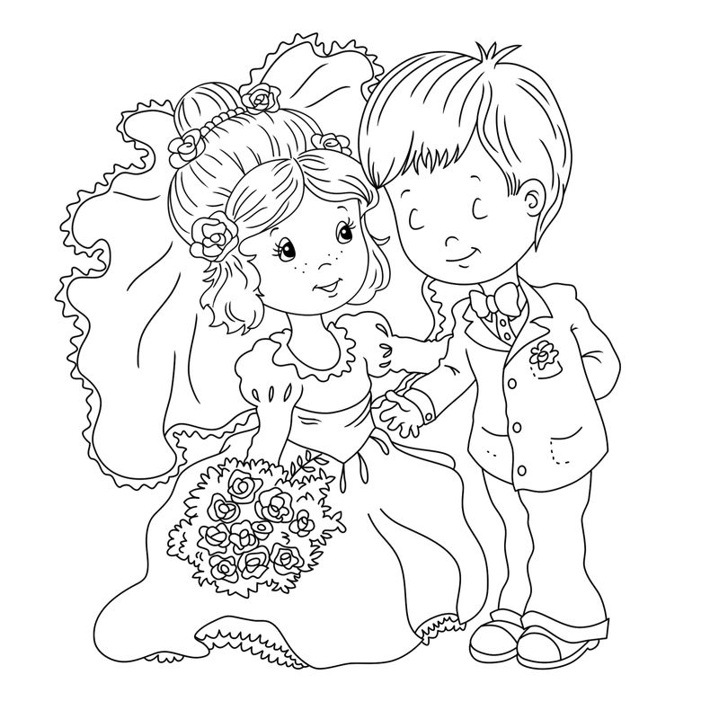 Printable Wedding Coloring Pages 001
