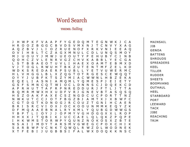 Printable Word Searches Large 001