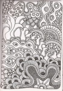 Printable zentangle