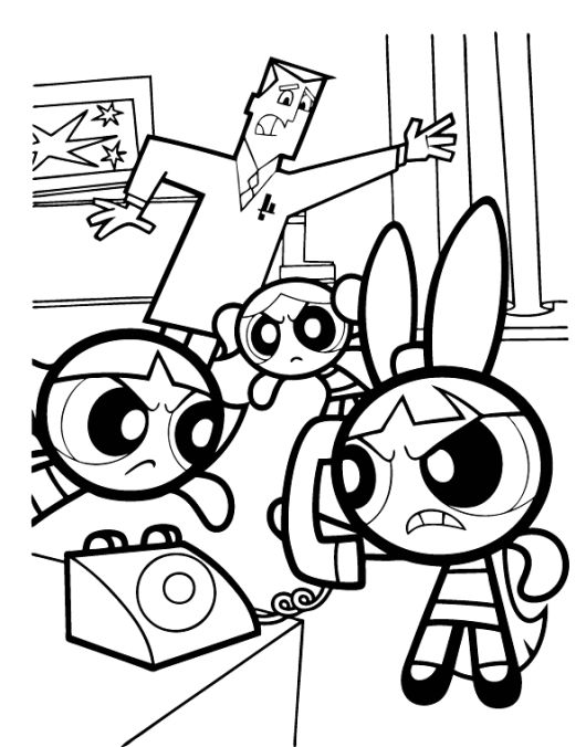Professor Powerpuff Girls Coloring Pages