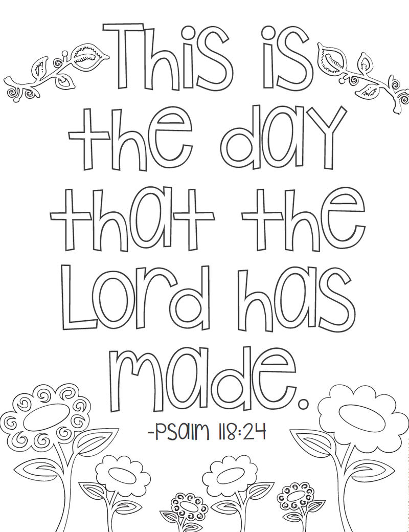 Psalm Phrase Bible Coloring Pages