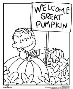 Pumpkin coloring page charlie brown coloring halloween