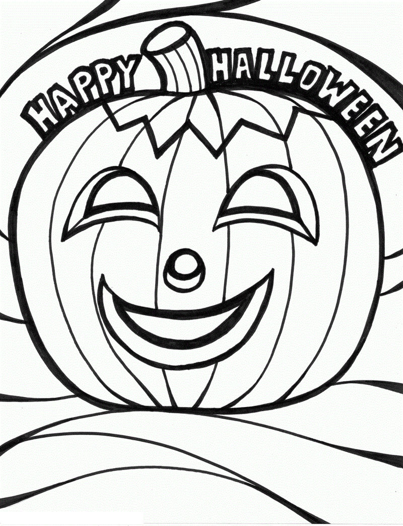 Pumpkin Halloween Coloring Pages 1