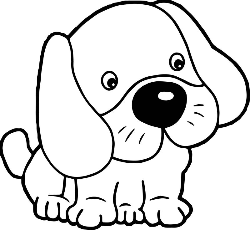 Puppy Dogs Cute Cartoon Animal Images Dog Puppy Coloring Page