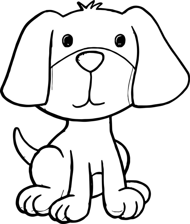 Puppy Pictures Of Cute Cartoon Puppies Dog Puppy Coloring Page