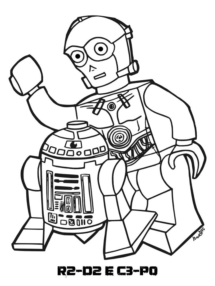 R2d2 C3po Lego Star Wars Coloring