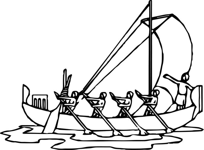 Raboat Coloring Page