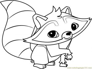 Raccoon animal jam coloring pages