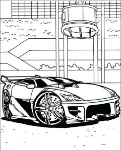 Race car coloring free printable