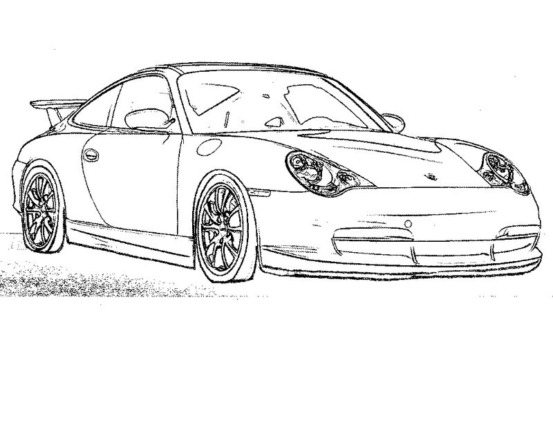Race Car Coloring Page 1