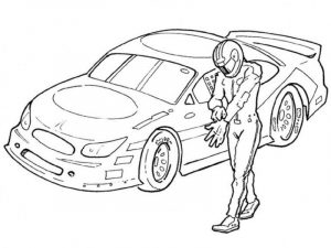 Race car coloring pages for boys