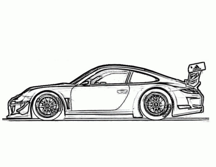 Race Cars Coloring Pages For Kids