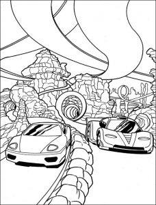 Race cars coloring pages race
