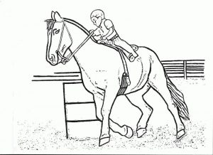 Race horse coloring page