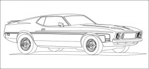 Racecar coloring pages mustang
