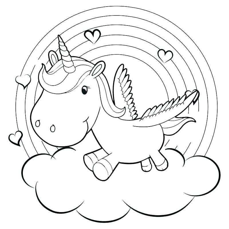 Rainbow Baby Unicorn Coloring Pages - Coloring Sheets