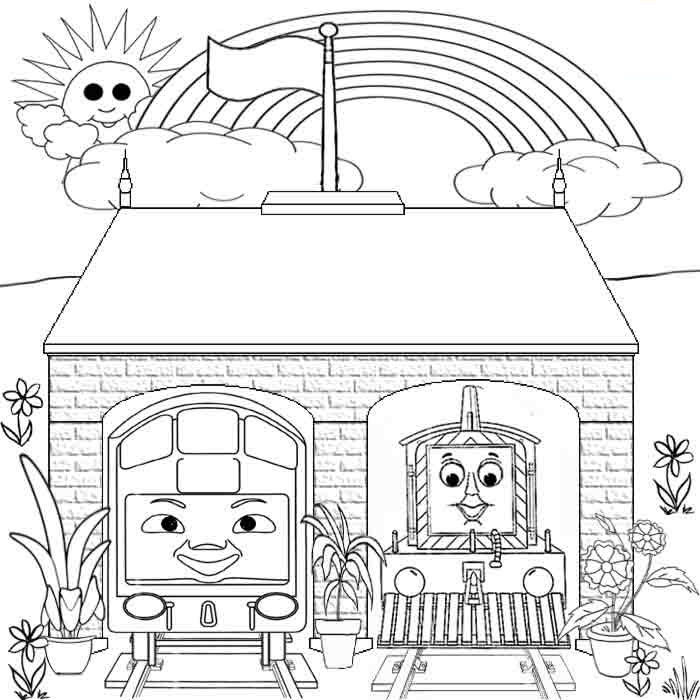 Rainbow Coloring Pages Kids