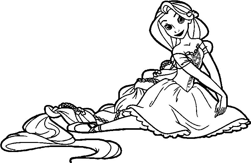 Rapunzel Ballerina Coloring Page