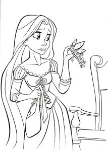 Rapunzel color pages crown