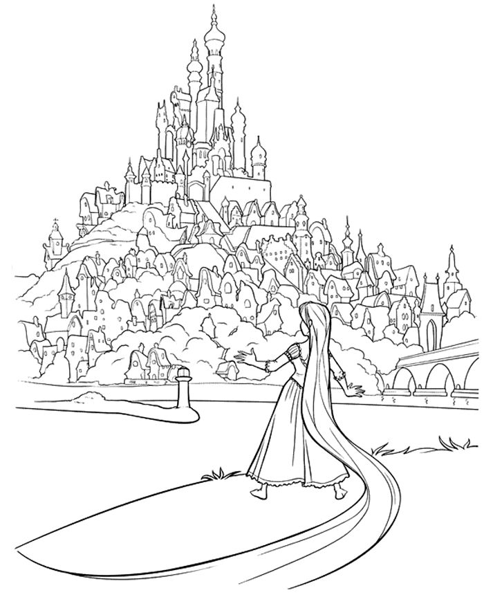 Rapunzel Coloring Pages To Download And Print