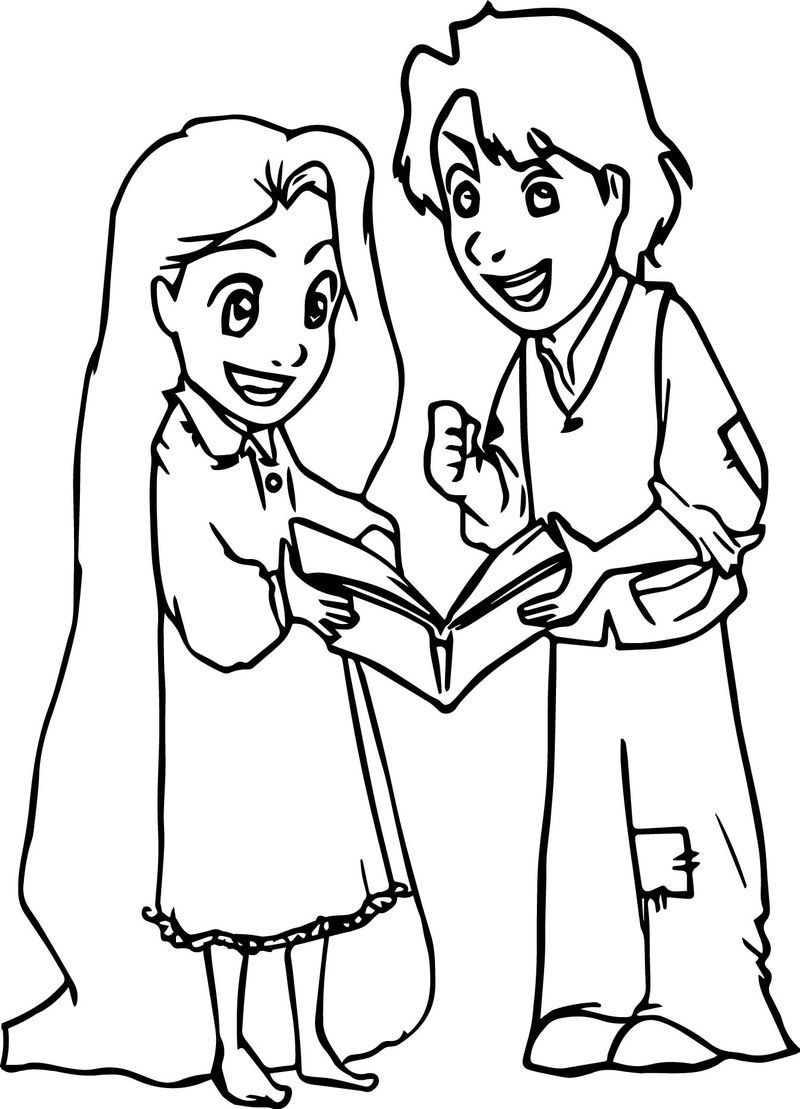 Rapunzel Flynn Younger Coloring Page