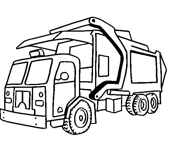Rc Dump Truck Coloring Page