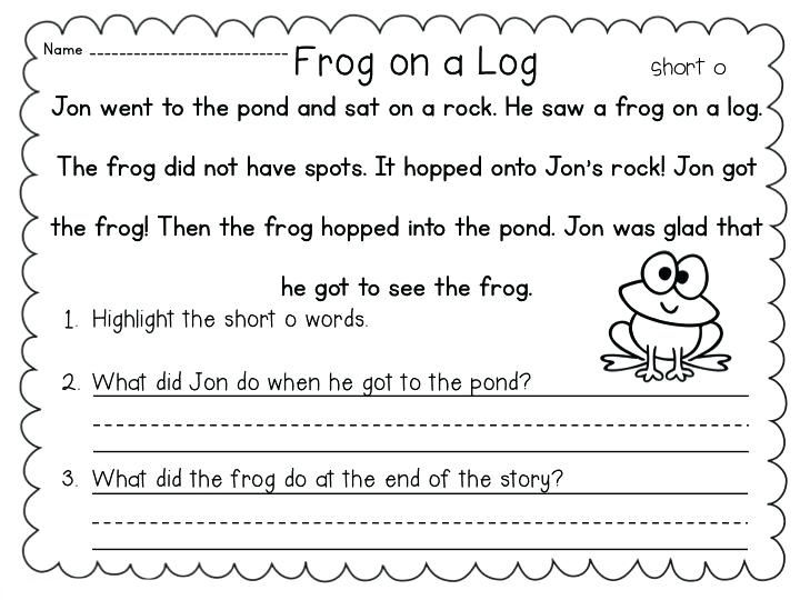 Reading And Writing Worksheet 1st Grade