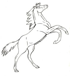 Rearing horsecoloring pages