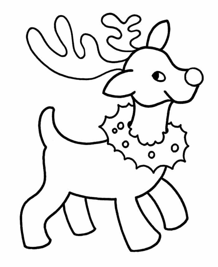 Reindeer Christmas Coloring Pages For Preschoolers ...