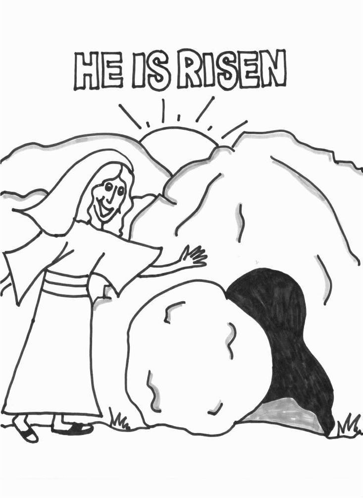 Religious Easter Coloring Pages Free