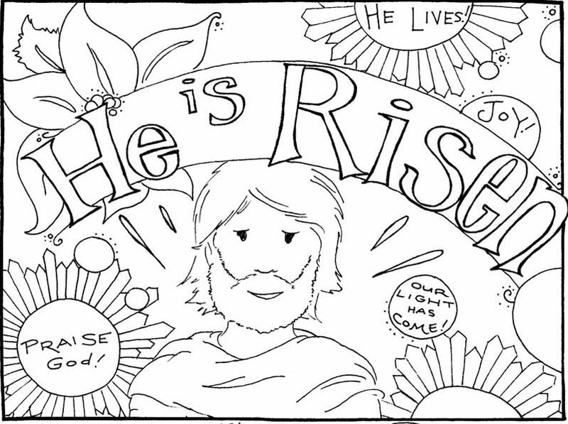 Religious Easter Coloring Pages Risen