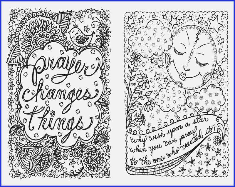 Religious Saying Flower Design Adult Coloring