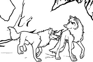 Render balto source wolf coloring page 1