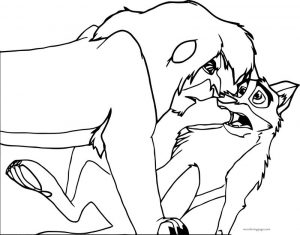 Reuploaded tlk balto base wolf coloring page 1