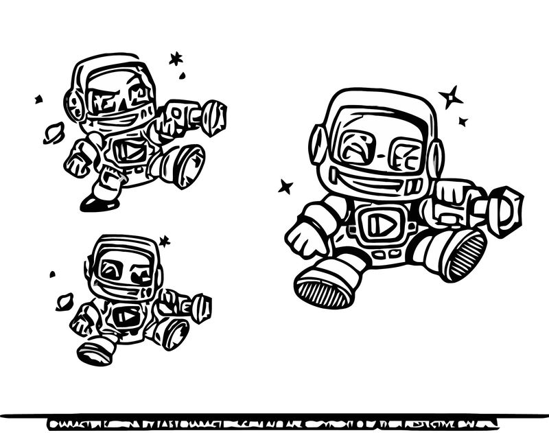 Robot Cartoon Character 01 Cartoonize Coloring Page