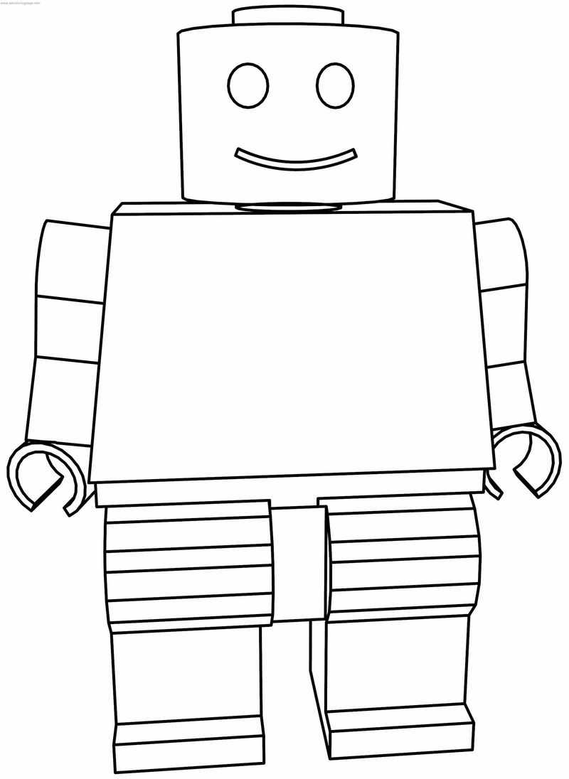 Robot Lego Coloring Page