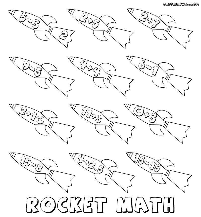 Rocket Math Worksheet Addition And Subtraction