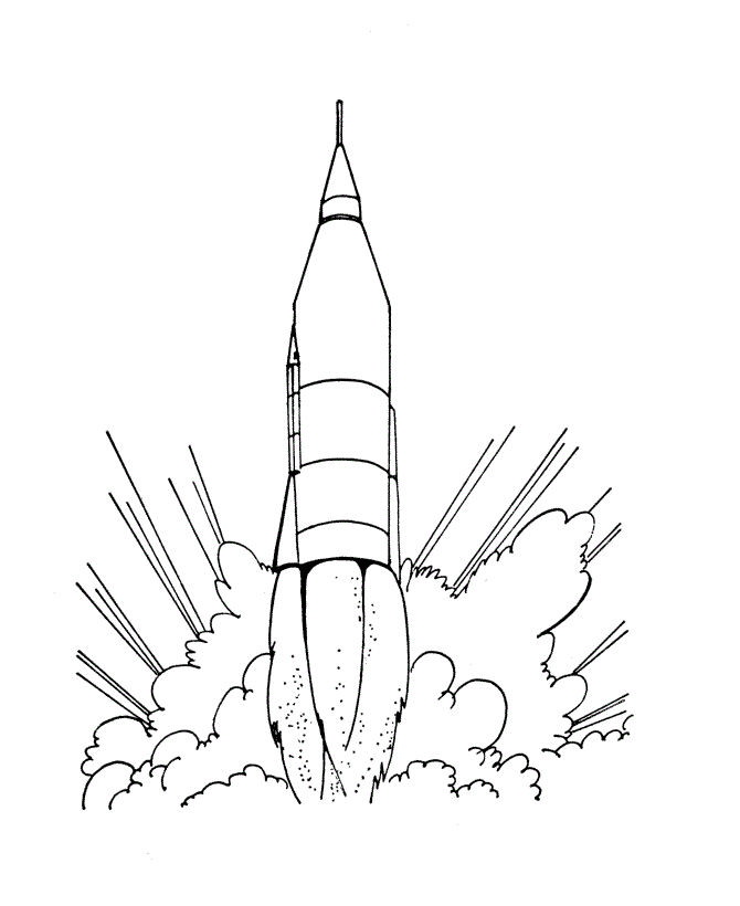 Rocket Ship Coloring Pages For Kids 001