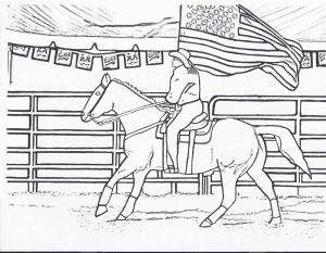 Rodeo horse coloring page