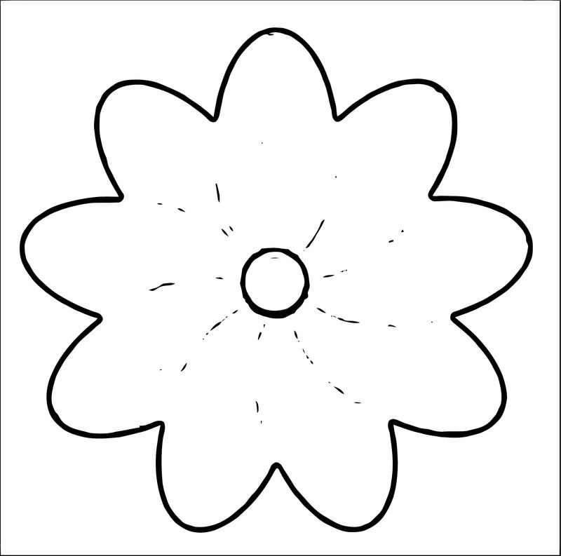 Rose Flower Coloring Page 017