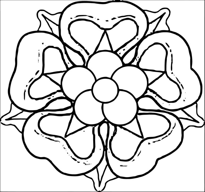 Rose Flower Coloring Page 073