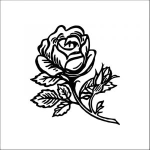 Rose flower coloring page 077