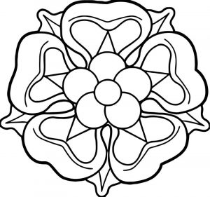 Rose flower coloring page 093