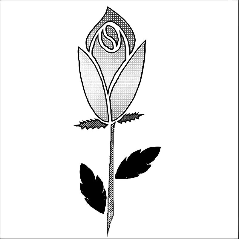 Rose Flower Coloring Page 096