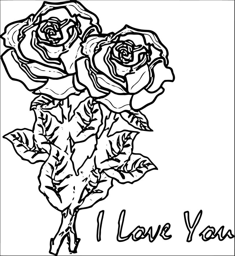 Rose Flower Coloring Page 163