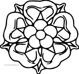 Rose shape image coloring page